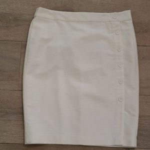 NWT Loft cream colored skirt Size 10